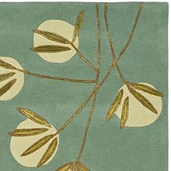 Safavieh Handmade Soho Blue New Zealand Wool Rug (2'6 x 8')