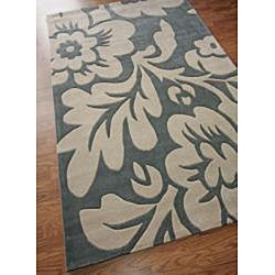 nuLOOM Hand-tufted Pino Collection Floral Slate Rug - 7'6 x 9'6