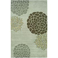 Safavieh Handmade Soho Botanical Light Grey New Zealand Wool Rug - 5' x 8'