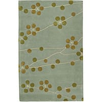 Safavieh Handmade Soho Blue New Zealand Wool Rug - 7'6 x 9'6