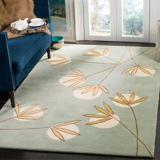 Safavieh Handmade Soho Blue New Zealand Wool Rug (3'6 x 5'6)