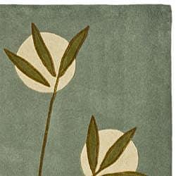 Safavieh Handmade Soho Blue New Zealand Contemporary Wool Rug (7'6 x 9'6)