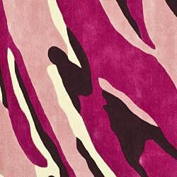 Safavieh Handmade Soho Modern Abstract Pink Wool Rug (6' x 6' Square) - Thumbnail 1