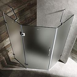 Vigo 36 X 36 Frameless Neo Angle Frosted Shower Enclosure