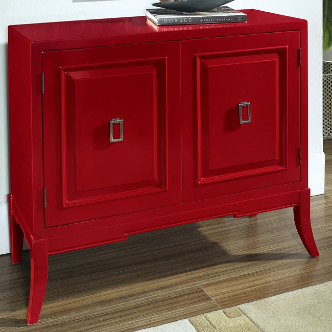 Hand-painted Ruby Red Accent Chest