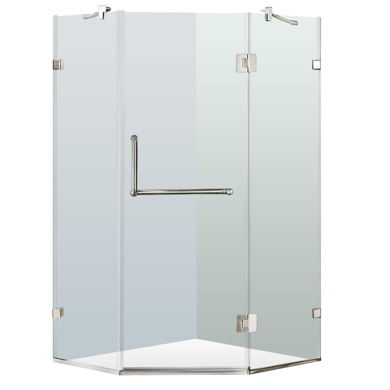 Shop VIGO Frameless Neo-Angle Clear Shower Enclosure (40 x 40 ...