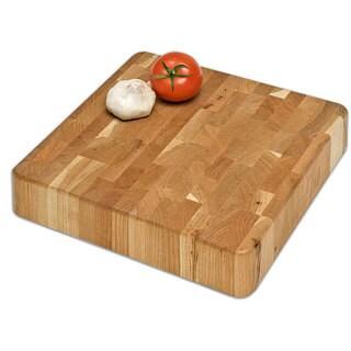 J.K. Adams 12-Inch Square End-Grain Chunk Kitchen Board - Brown