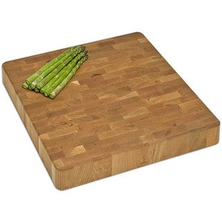 J.K. Adams 16-Inch Square End-Grain Chunk Kitchen Board