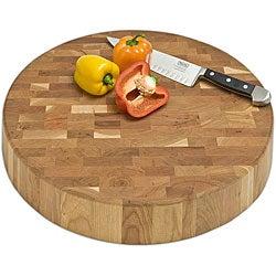 J.K. Adams End-grain Chunk Cutting Board (18-inch Round)