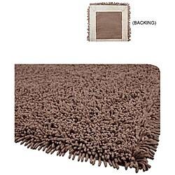 Handmade Shaggy Brown Premium Cotton Rug (3' x 5')