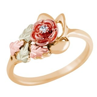 Black Hills Gold Diamond Accent Rose Ring