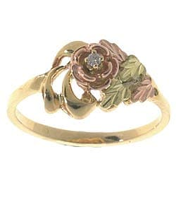 Black Hills Gold Diamond Rose Ring