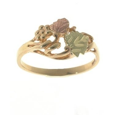 Shop Black Hills Gold Leaf Ring Silver On Sale Free