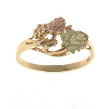 Black Hills Gold Leaf Ring - Silver