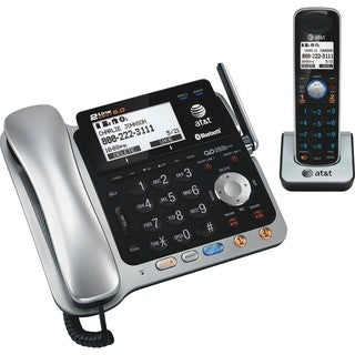 AT&T TL86109 DECT 6.0 2-Line Expandable Corded/Cordless Phone with Bl
