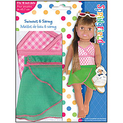 Springfield Collection Doll Pretty Swimsuit Outfit with Sarong - Thumbnail 0