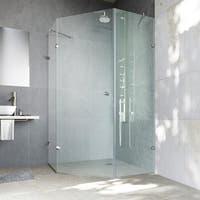 VIGO Self-Closing Frameless Neo-Angle 3/8-Inch Clear Shower Enclosure