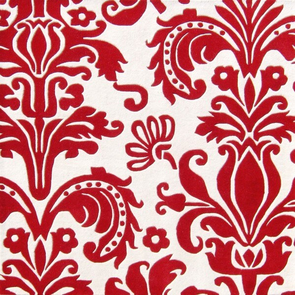 Alliyah Handmade Red New Zealand Blend Wool Rug (6' Square)