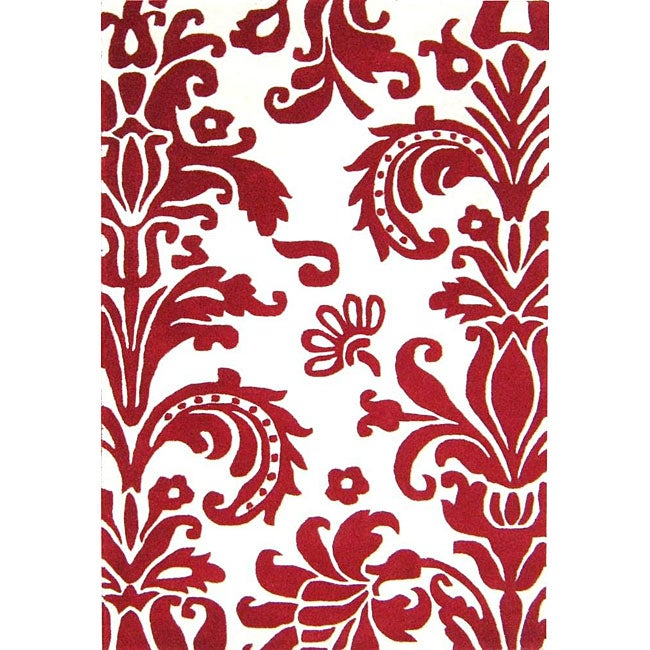 Alliyah Handmade Off-White New Zealand Blend Wool Rug (4' x 6')