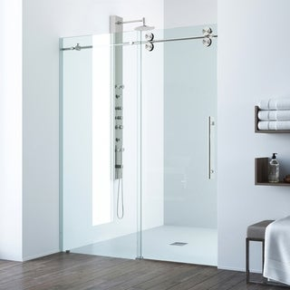 VIGO Elan 48-inch Frameless Sliding Shower Door Clear/Stainless Steel