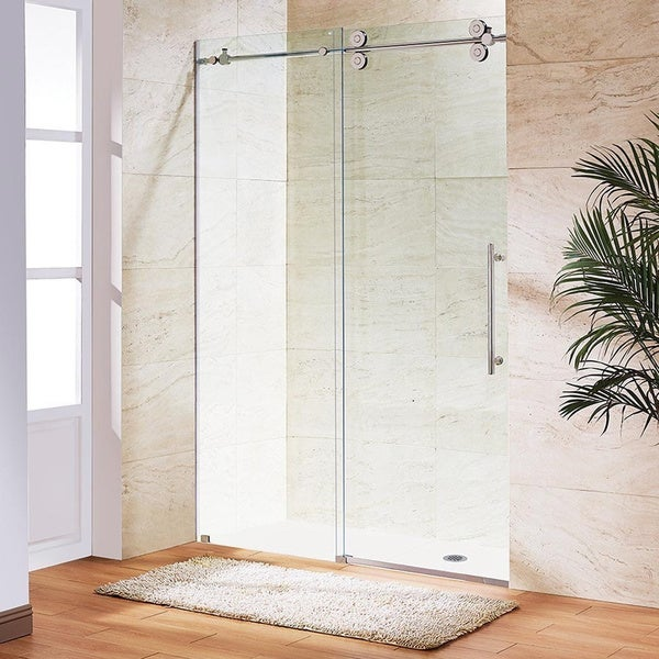 Shop Vigo 72 Inch Frameless Sliding Glass Shower Door On Sale