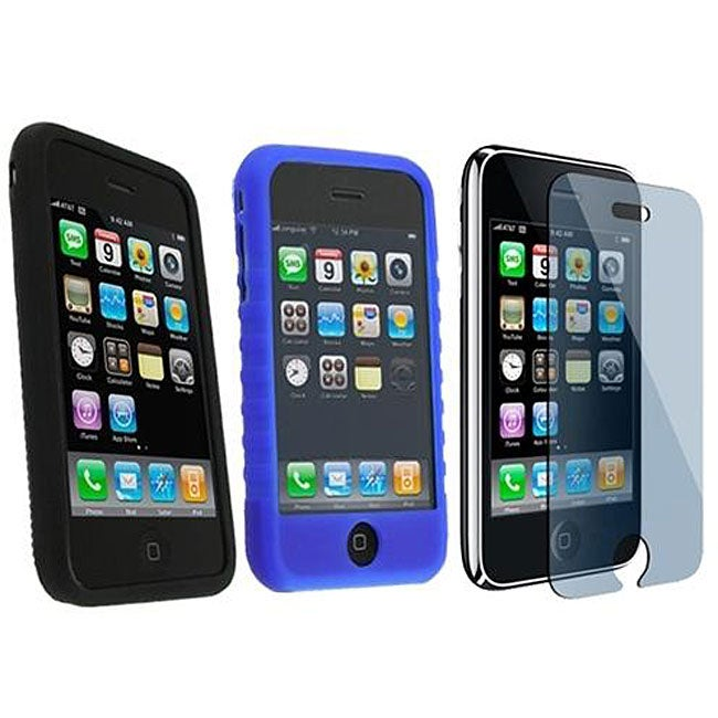 3-piece Case/ Screen Protector for iPhone 3G/ 3GS - Thumbnail 0