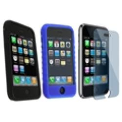 3-piece Case/ Screen Protector for iPhone 3G/ 3GS - Thumbnail 1