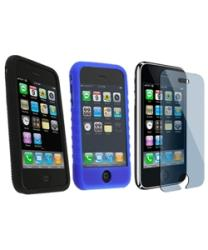 3-piece Case/ Screen Protector for iPhone 3G/ 3GS - Thumbnail 2