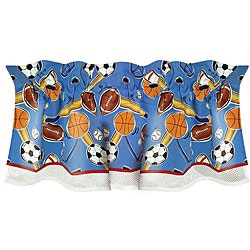 Let's Play Ball Window Valance