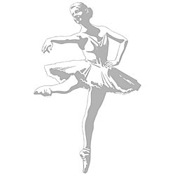 Ballerina Sudden Shadows Wall Decal