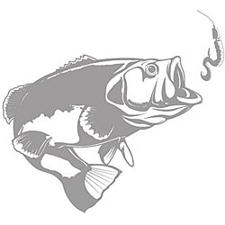 Bass with Lure Sudden Shadows Wall Decal