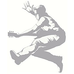 Guitar Guy Sudden Shadows Wall Decal