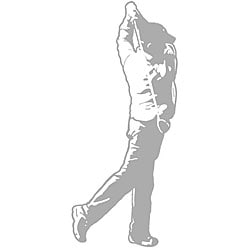 Golfer Sudden Shadows Wall Decal