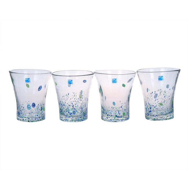Amici Monet Double Old Fashioned Glasses (Set of 4)