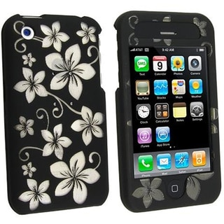 Black Hawaii Crystal Case for Apple iPhone 3G/ 3GS