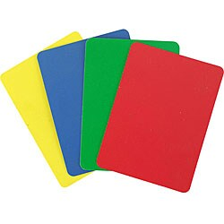 Poker Size Cut Cards Various Colors (Set of 10)