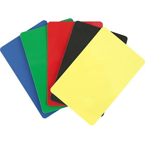 Bridge-sized Cut Plastic Cards with Five Color Options (Set of 10)