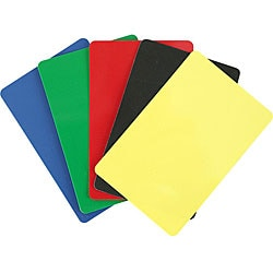 Bridge-sized Cut Plastic Cards with Five Color Options (Set of 10)