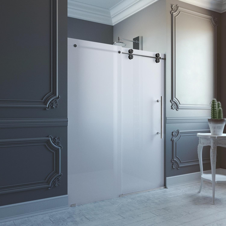 Details About Vigo Elan Frosted Adjustable Frameless Sliding Shower Door Right Sided Door Stai