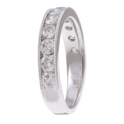 Unending Love 14k White Gold 1ct TDW Diamond Miligrain Detail Ring (H-I, I1-I2)