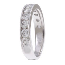 Unending Love 14k White Gold 1ct TDW Diamond Miligrain Detail Ring - Thumbnail 1
