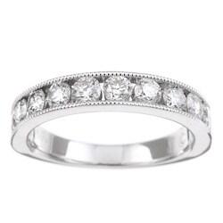 Unending Love 14k White Gold 1ct TDW Diamond Miligrain Detail Ring