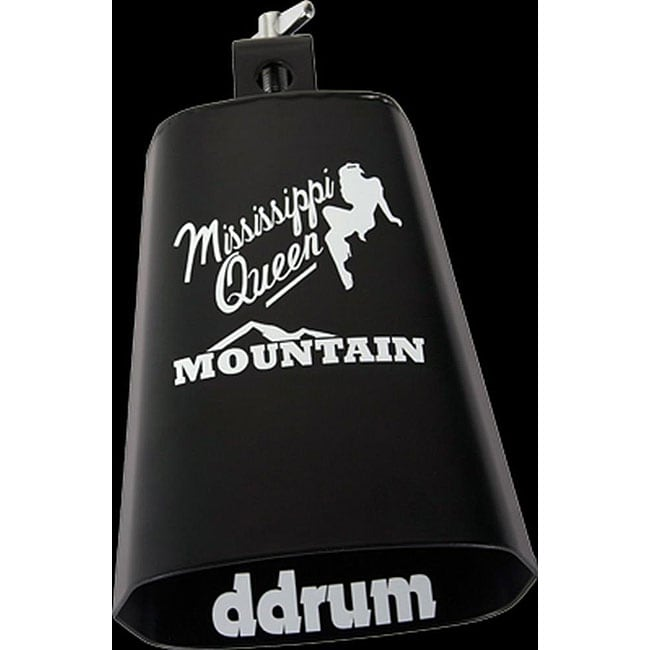Corky Lang 'Mississippi Queen' Black Cowbell with White Print
