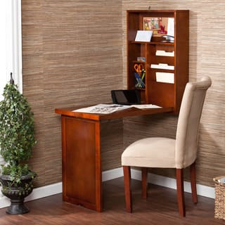 Harper Blvd Murphy Walnut Fold-out Convertible Desk|https://ak1.ostkcdn.com/images/products/4733628/Murphy-Walnut-Fold-out-Convertible-Desk-P12642582.jpg?impolicy=medium