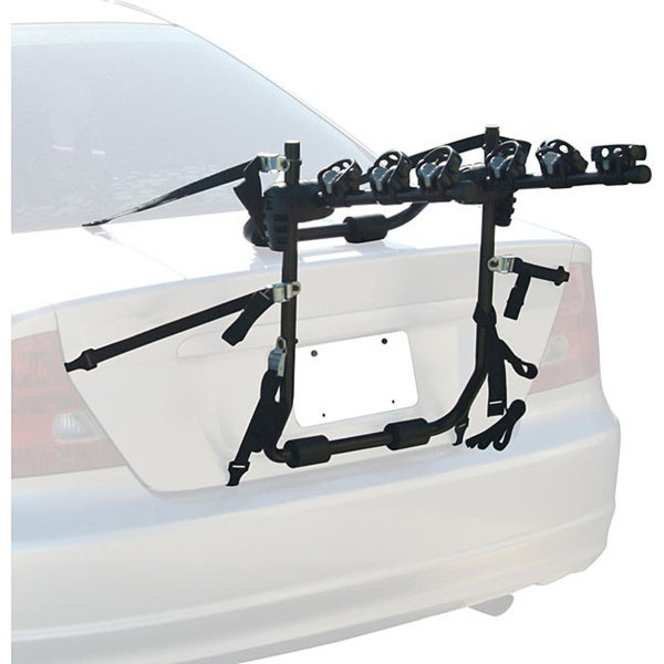 Force Rax Adjustable Three-bike Powder-coated Steel Car Rack