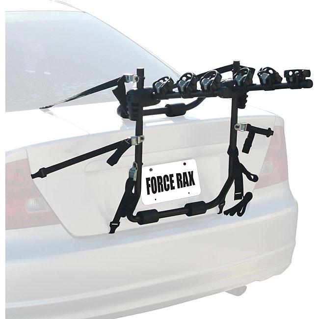 Force Rax Adjustable Three-bike Powder-coated Steel Car Rack