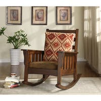 Furniture of America Rosewood Dark Oak Rocking Accent Chair