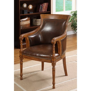 furniture of america betty fleur antique oak wood accent chair 13133599 overstockcom shopping great deals on furniture of america living room chairs chair wooden furniture beds