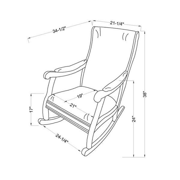 Furniture of America Chloie Oak Fabric Rocking Chair