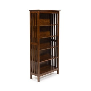 Furniture of America Till Contemporary Oak Solid Wood Media Shelf